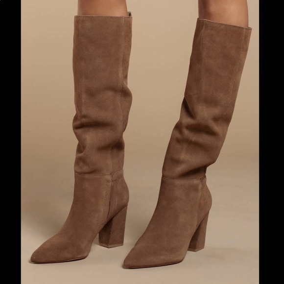 Steve Madden Raddle Tan Suede Boots